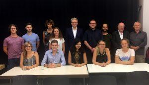 Bild: LMK Direktor Dr. Marc Jan Eumann besucht OK-TV Ludwigshafen