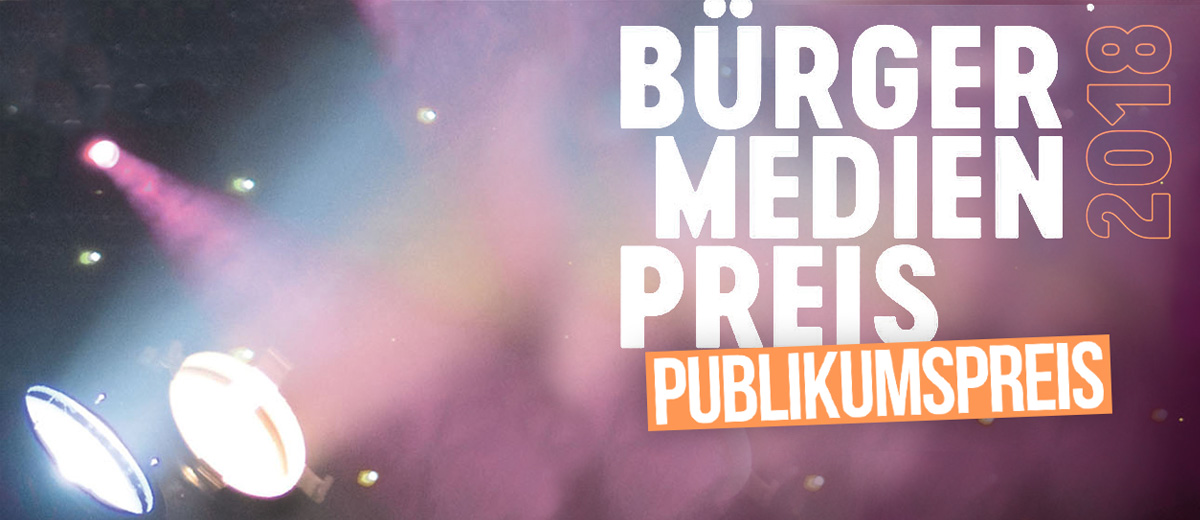 Online-Voting beim Bürgermedienpreis ab 4. Februar!