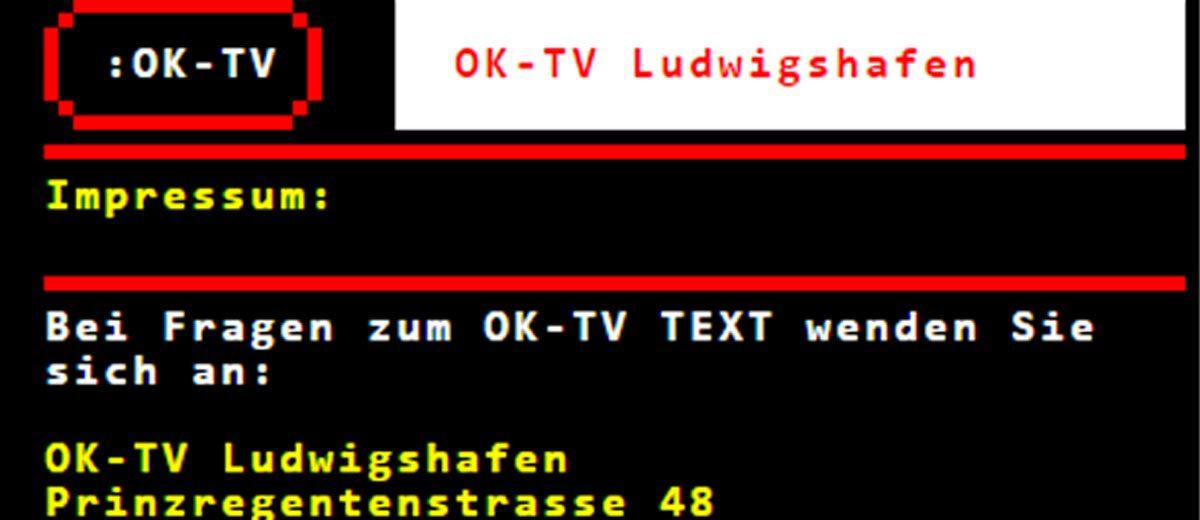 OK-LU Website TeletextHD_1200x520px OK-LU Website Website von OK-TV Ludwigshafen, dem Bürgerfernsehen in LudwigshafenOK-LU Website - Björn Bretschneider
